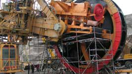 KU800/19 BUCKET WHEEL EXCAVATOR TIP RECONSTRUCTION