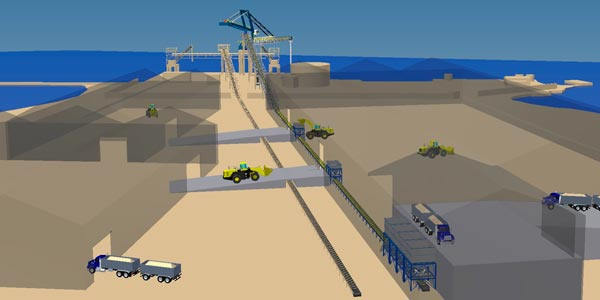 HARBOUR TERMINAL FOR PHOSPHATE LOADING