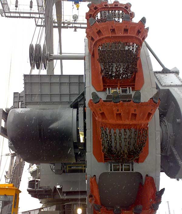 RECONSTRUCTION OF BUCKET WHEEL BOOM AND EXCAVATING TIP OF KU 300/19 BUCKET WHEEL EXCAVATOR