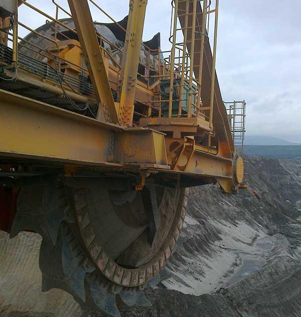 K2000 BUCKET WHEEL EXCAVATOR TIP RECONSTRUCTION
