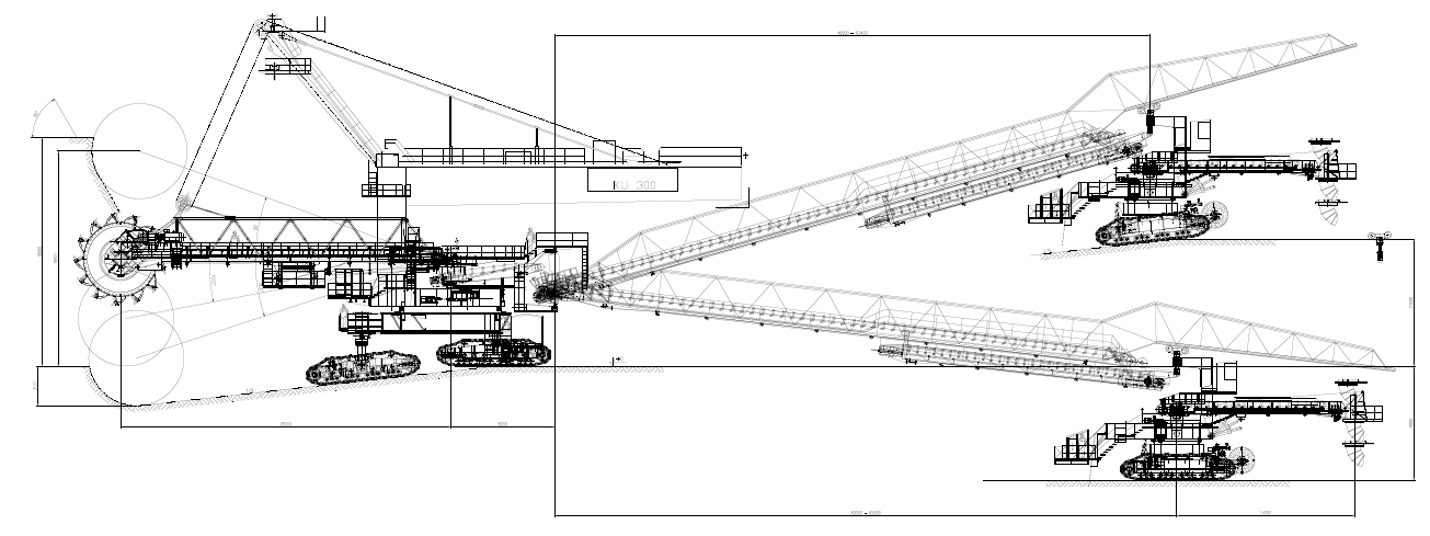 KU300 BUCKET WHEEL EXCAVATOR RECONSTRUCTION STUDY